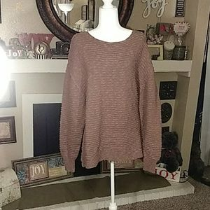 Free People large brown sweater
